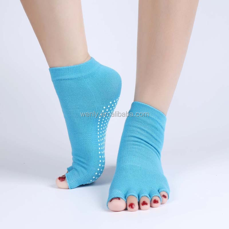 Adult breathable open toe yoga socks five fingers
