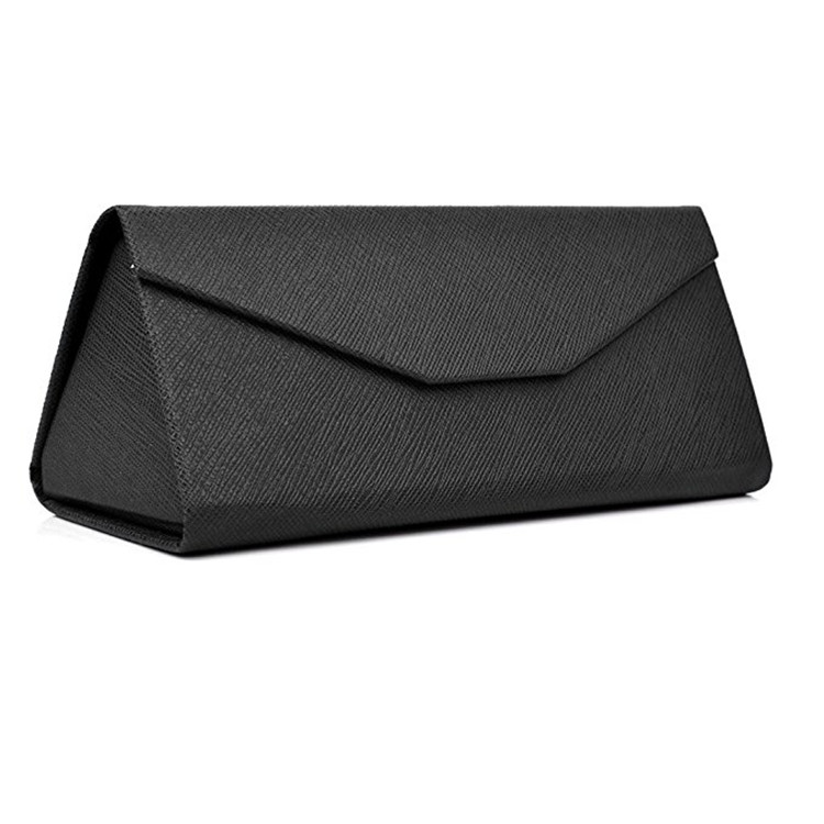 Foldable Leather Glasses Case For School Office