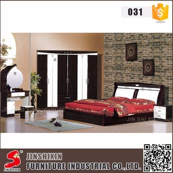 Jinshixin Factory Custom Mdf And Pvc Home Furniture Modern European Style Bedroom Set