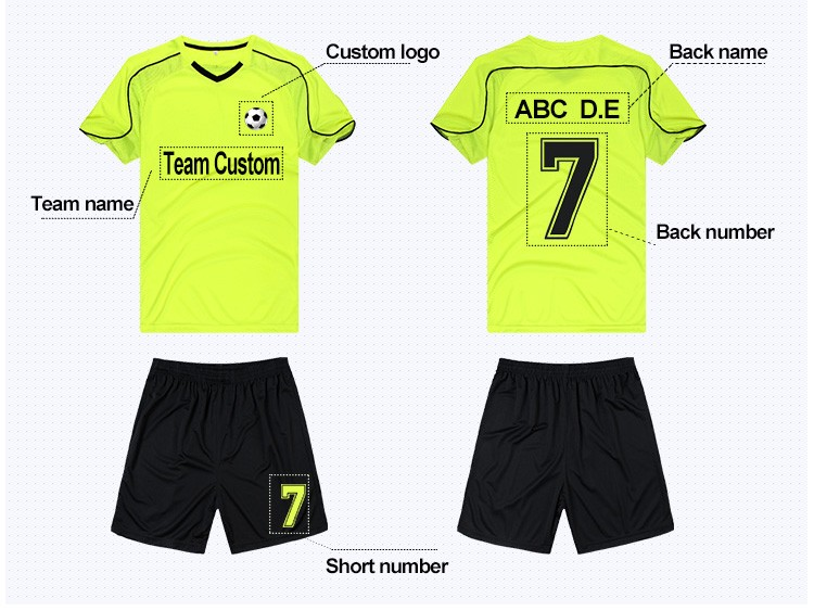 New blank football jersey uniform long sleeve sublimation goalkeeper club soccer