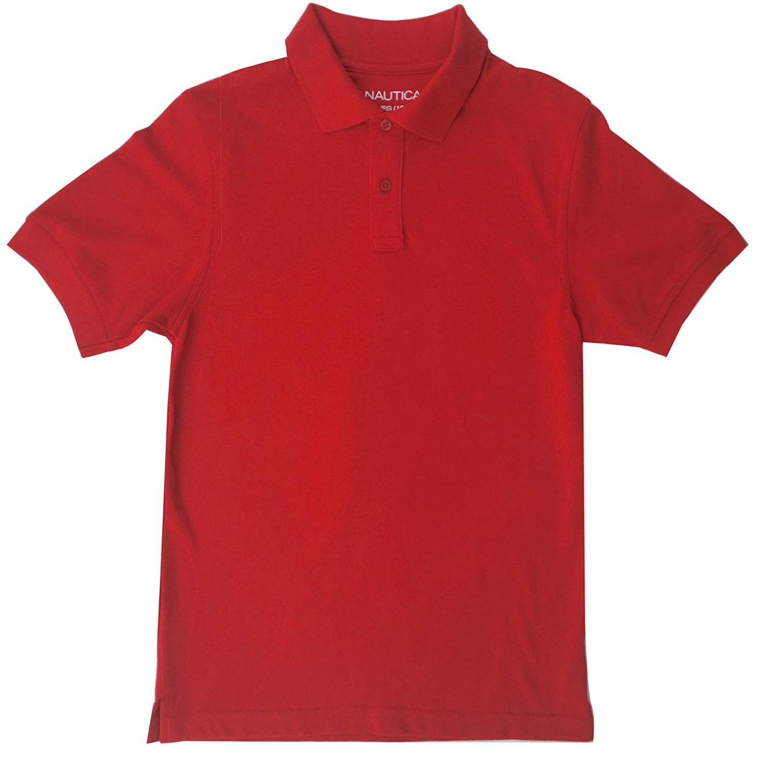 74159a948 Get Quotations · Nautica Boys Polo Shirt Short Sleeves Red XL (18-20)