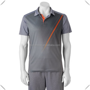 custom men's reflective sublimation printed golf polo shirts high quality dry fit technical performance breathable