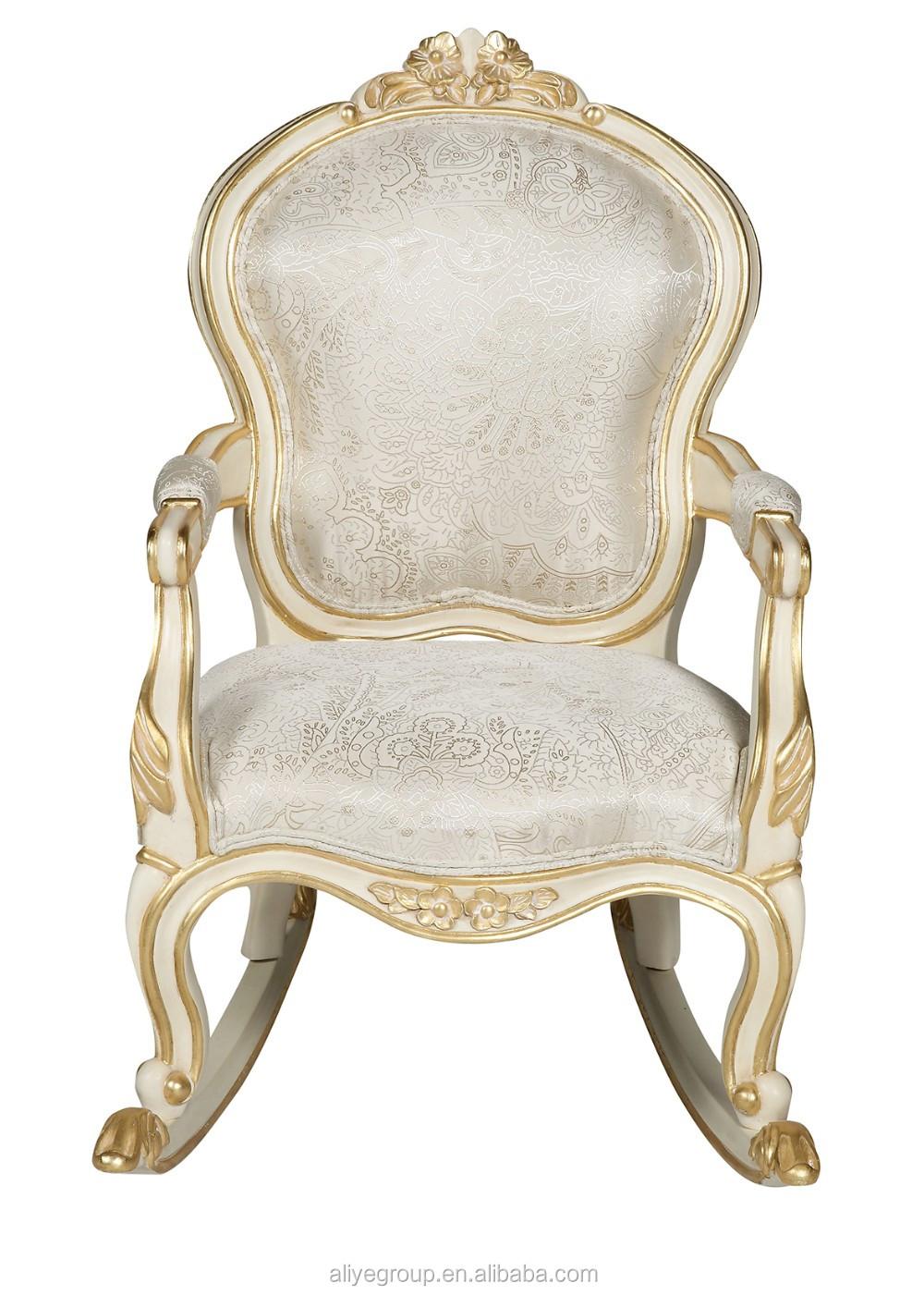 Wy507 antico di lusso avorio e reale per bambini in legno struttura della sedia bambini sedia a - Sedia a dondolo prezzi ...