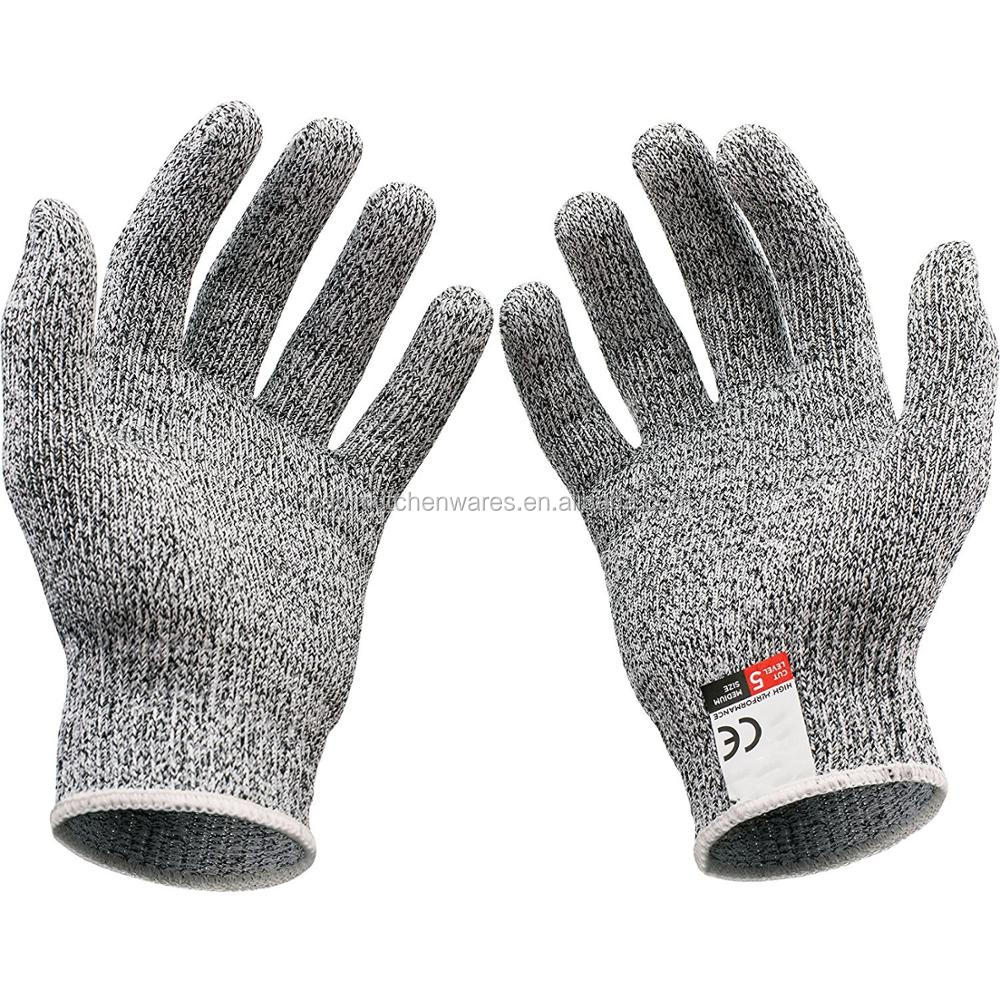 Soft Leather Protect Cut Resistant Safety Hand Kitchen Working Gloves Anti