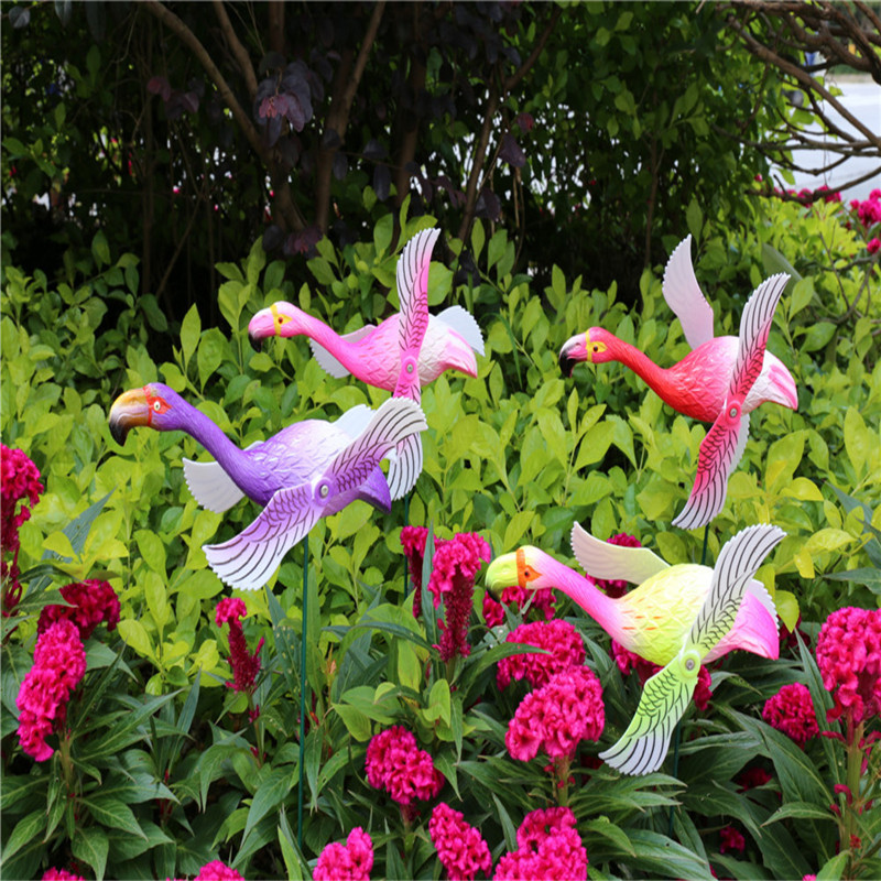 Osgoodway New Products Garden decoration windmill multicolor Cartoon plastic flower ornament model flower toy fun decor