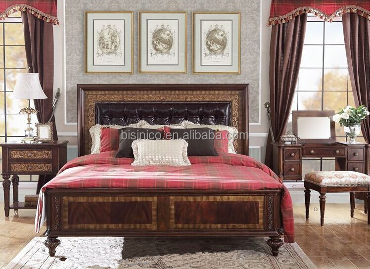 Verona Style Replica Carved Wooden Post Bed With Night Stand ...