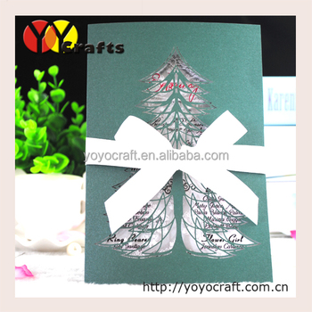 Lovely christmas tree design handmade card wholesale green no sound lovely christmas tree design handmade card wholesale green no sound greeting card with ribbon m4hsunfo