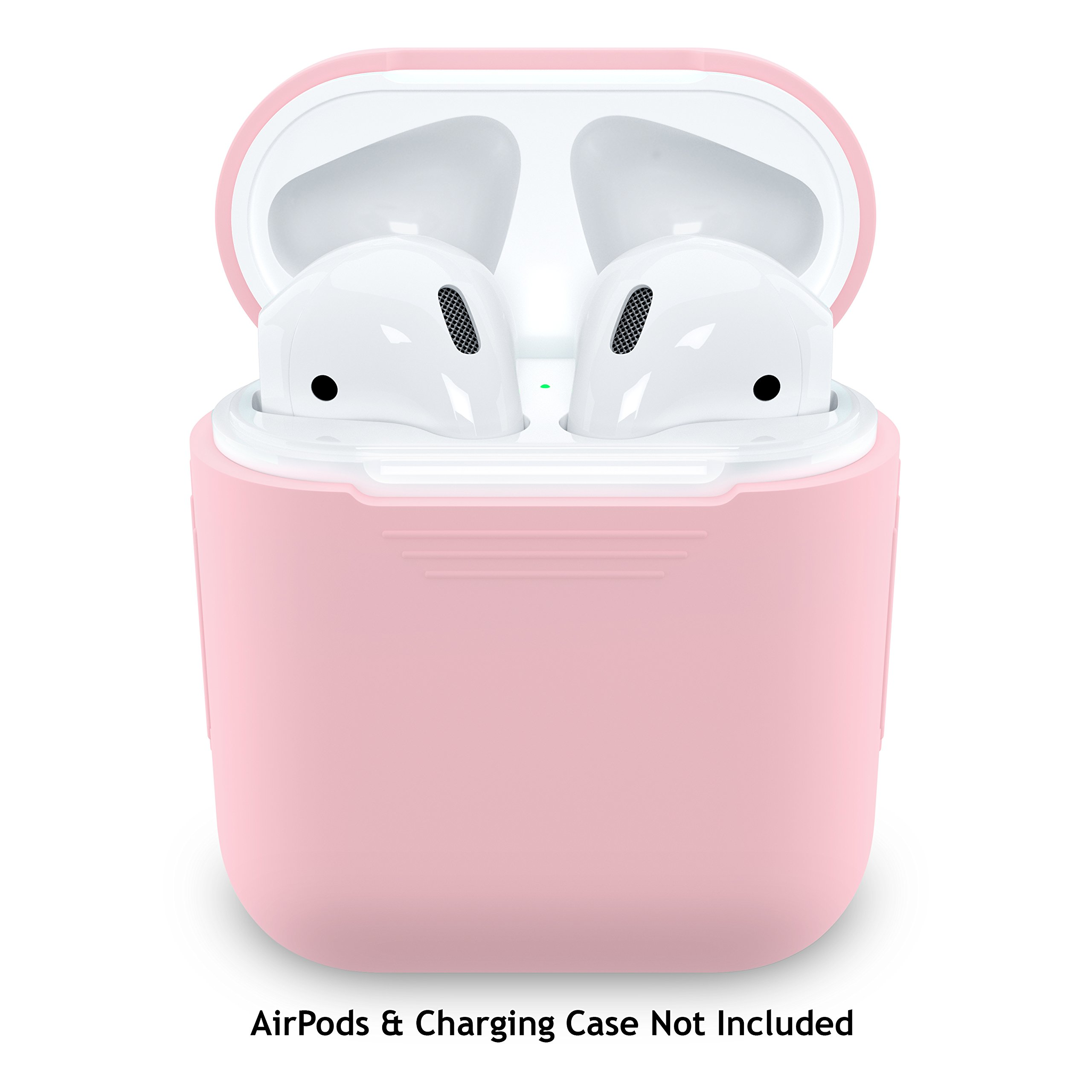 PodSkinz AirPods Case Protective Silicone Cover and Skin for Apple Airpods Charging Case (Pretty in Pink)