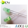 factory price high lumen green 5mm oval led diode 12v
