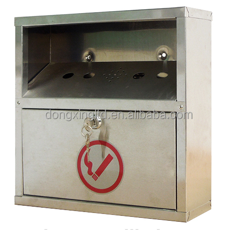 Outdoor Stainless Steel Wall Mounted Ashtray