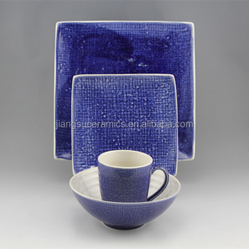 stoneware ceramic dinner set blue square dinnerware set & Stoneware Ceramic Dinner Set Blue Square Dinnerware Set - Buy ...