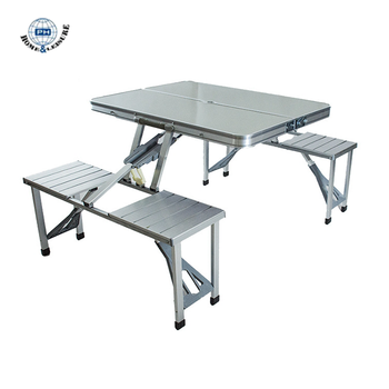 China Outdoor Portable Aluminum Alloy Folding Table Chairs Set Picnic Party Dining Camping For 4 Person Lightweight