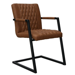 Restaurant use decorative brown iron legs dining chair