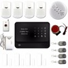 2016 latest touchpad home anti-theft gsm wifi security system with gas smoke detector panic button