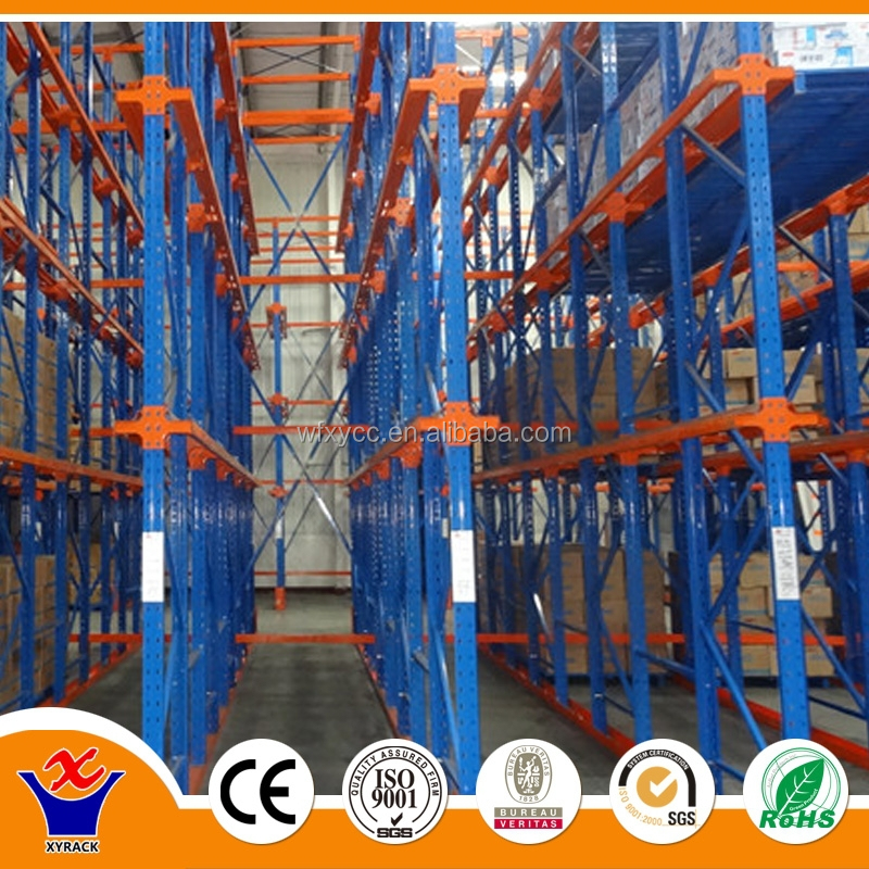 Drive In Rack Pallet Rack System for Dried Food aluminium warehouse racks
