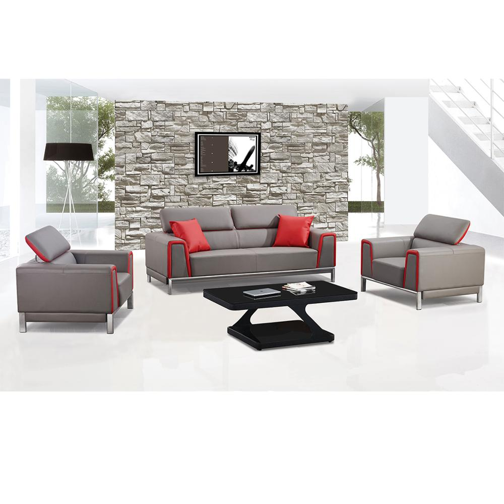 New Design Modern Leather Sofa Set for Office W7777