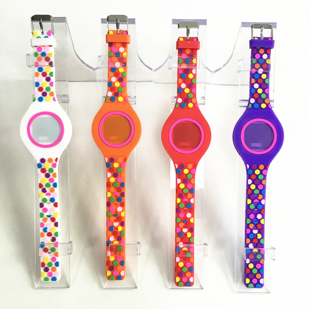 cheap led silicone watch with Digital movement factory price