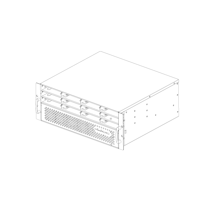 ED412H40 4u 12 bays 19 inch server case with lock door