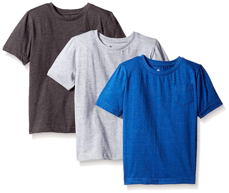 28a6ed610f93 Get Quotations · American Hawk Boys 3 Piece Pack Crew Neck Pocket T-Shirt