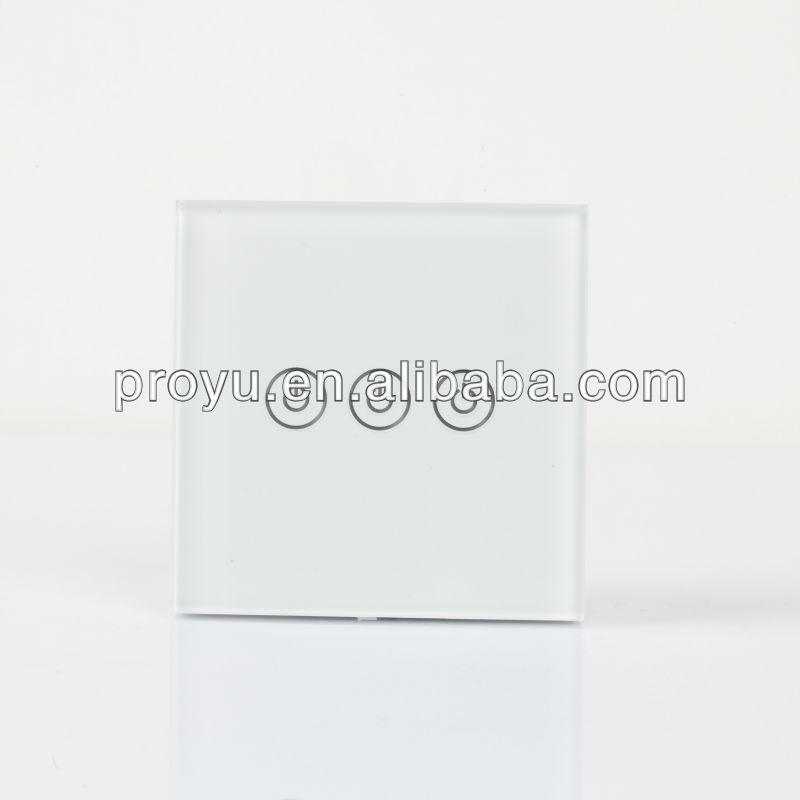 3 gang touch screen smart wall switch PY-WS3