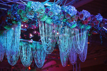 Beautiful Iridescent acrylic crystal bead curtain , crystal beaded curtain for wedding & home decor