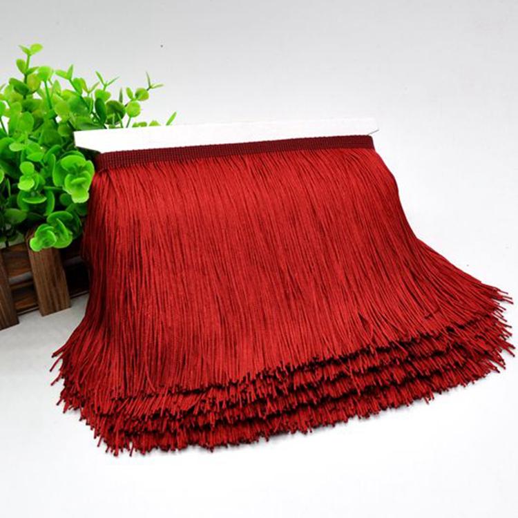 Wholesale 15CM Polyester Tassel Fringe Trim Direct Supply From China Manufacturer