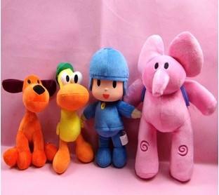 4pcs lot POCOYO Cartoon Dolls Stuffed Toys Toys Hobbies Elly Pato POCOYO Loula plush toy