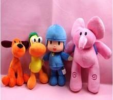 4pcs/lot POCOYO Cartoon Dolls & Stuffed Toys Toys & Hobbies Elly & Pato & POCOYO& Loula plush toy