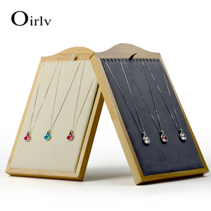 Oirlv high quality solid wood custom necklace bracelet display jewelry holder