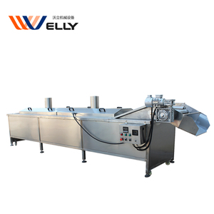 Fruits and vegetables carrots/coconutmeat/mushroom blanching machine, continuous almond blancher machine