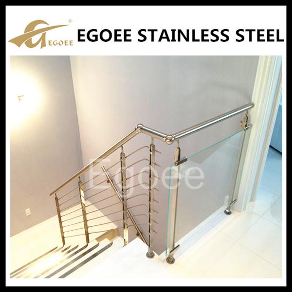 Stainless Steel Railings Glass Handrails Installation: Stainless Steel Handrail Profiles U Channel Glass Railing