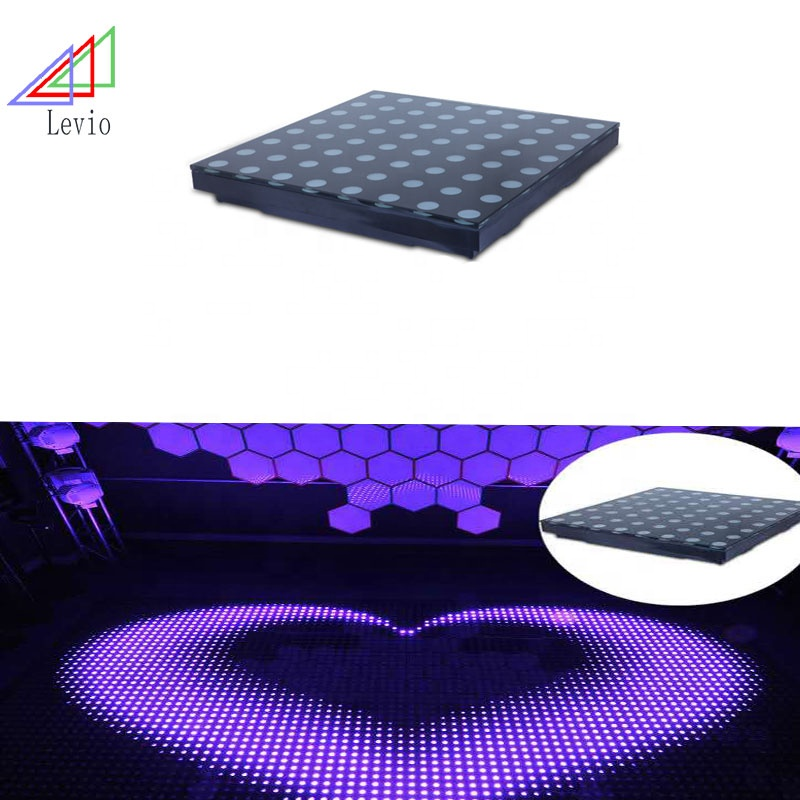 DMX Control Digital Imaging Tempered Glass Stage LED Floor Tile Lamp  Interactive Led dance floor lighting