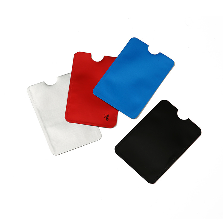 Aluminium credit card holder branded rfid blocking card sleeve