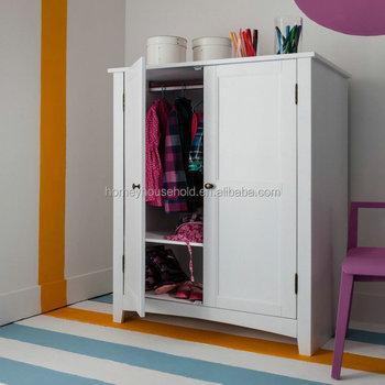 Bedroom Furniture Modern Wooden White Armoire Wardrobe Clothes Cupboard  Design