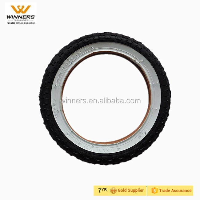 12 1/2X2 1/4 white side air rubber bicycle tire