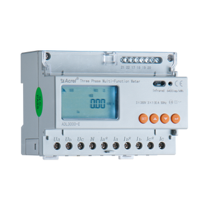 Acrel 3 phase 4 wire (3p4w) multifunction din rail energy meter with  3*10(40)A ac3*220/380V indirect connection via CT