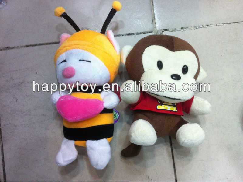 HI CE plush toys honney and monkey cool gifts
