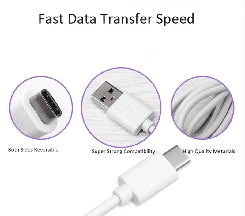Hot selling Simple style  high quality adapter USB Type-C cable  usb charging cable
