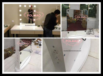 Polaiao lighting makeup vanity mirror without frame with dimmer and polaiao lighting makeup vanity mirror without frame with dimmer and usb out with warm white and aloadofball Image collections