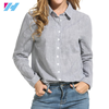 wholesale women stripr shirt ladies fashion long sleeve casual stripe shirt women wear