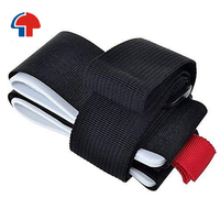 wholesale hook and loop fastener custom logo printed durable ski straps holders