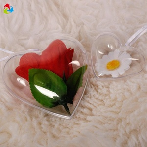 Heart Shape Wedding Candy Small Clear Plastic Box