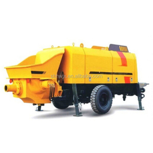 30m3/h small portable trailer mounted concrete pump HWS-CP30 with famous diesel engine