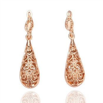 Bulk Wholesale Design Earrings Jewellery Saudi Dubai 18k Carat Rose