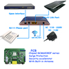 CE Certificated Blue Case FTTH 2GE 1FXS Ports 2T2R WiFi GPON ONU Compatible with Fiberhome OLT
