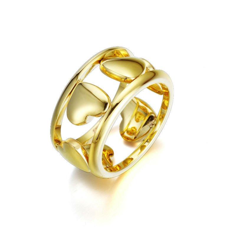 8c2dae1769d7 Joyas de oro de 18 quilates de boda anillo de acero inoxidable anillo oro