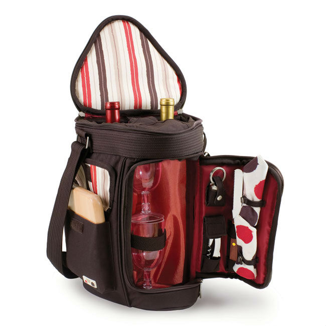Picnic Time Insulated Wine and Cheese Cooler Tote for Two