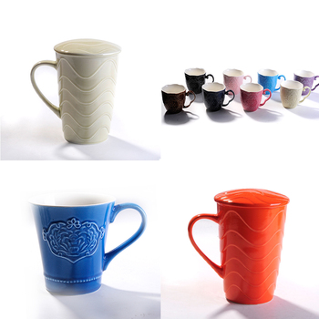Whole Ceramic Coffee Cups Gift Sets V Shape Mug