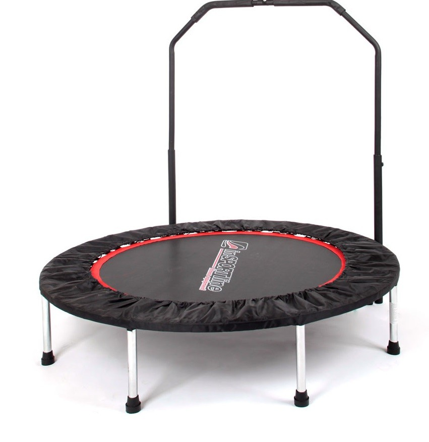 36inch Kids Folding Mini Trampoline With Handle For