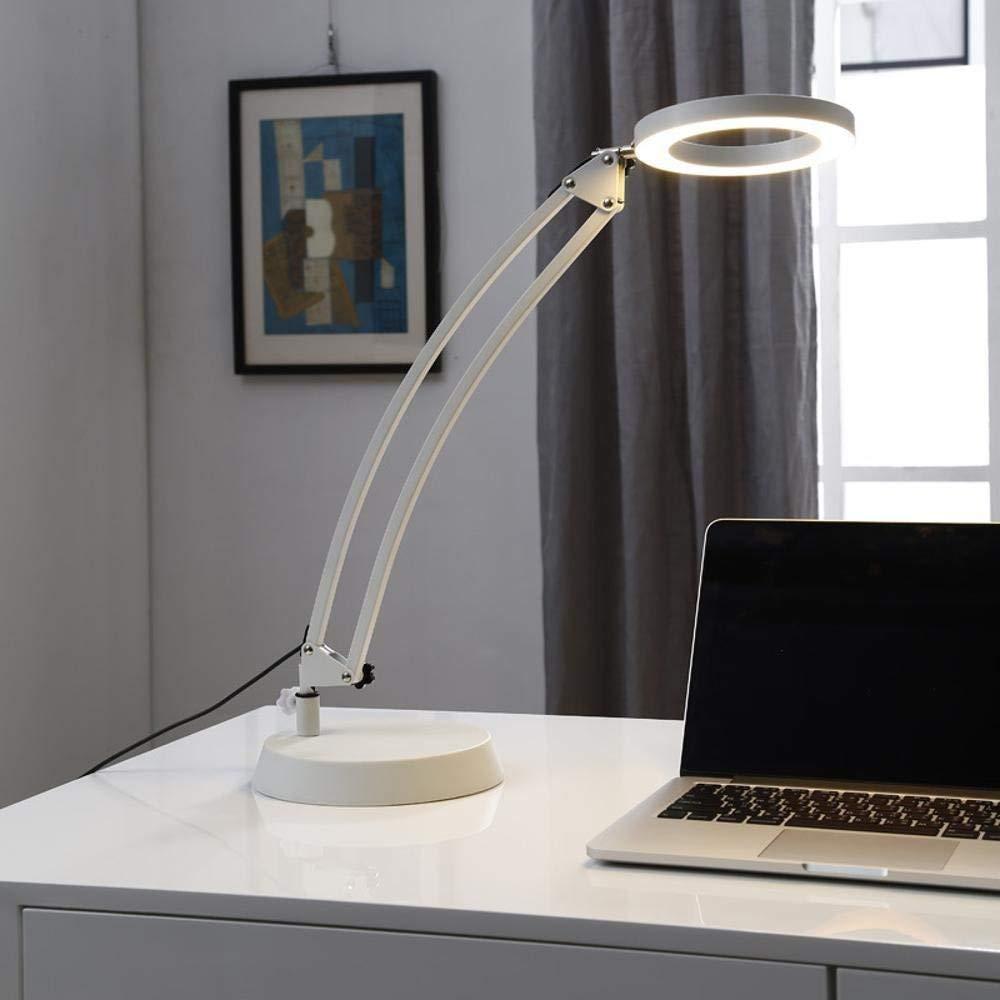 WEIWEI Reading lamp bedside lamp table lamp students reading eye lamp Long arm LED work folding lamp